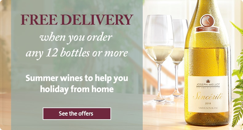 FREE DELIVERY when you order any 12 bottles or more