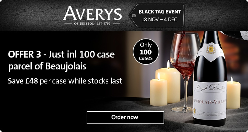 ONLY 100 cases! Top-name Beaujolais with £48 saving