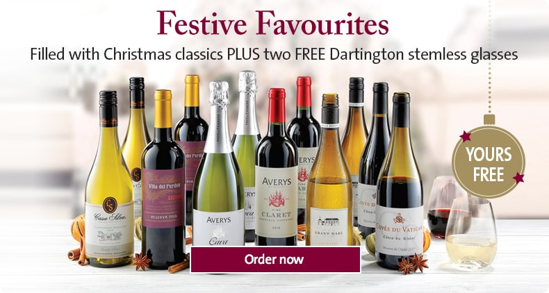 Filled with Christmas classics PLUS two FREE Dartington stemless glasses