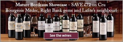 Mature Bordeaux Showcase - SAVE £72 on Cru Bourgeois Médoc, Right Bank gems and Lafite's neighbour!