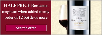 HALF PRICE Bordeaux magnum when added to any order of 12 bottle or more