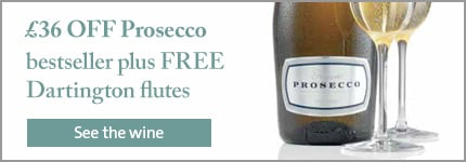 £36 OFF Prosecco bestseller plus FREE Dartington flutes
