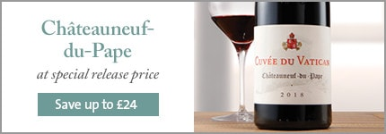 Châteauneuf-du-Pape at special release price. Save up to £24