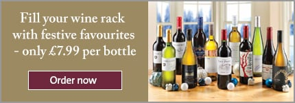 Fill your wine rack with festive favourites - only £7.99 per bottle