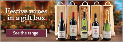 Festive wines in a gift box
