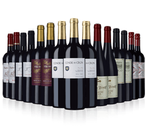 Wine Rack Essentials 15-bottle reds case