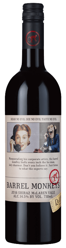 RedHeads Barrel Monkeys Shiraz 2016