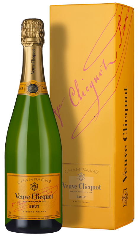 Champagne Veuve Clicquot Yellow Label Brut (in gift box) NV