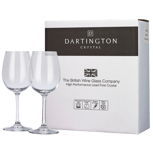 Dartington Crystal Pair of White Wine Glasses