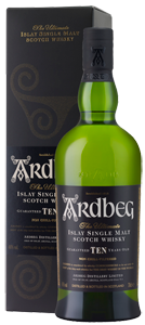 Ardbeg 10-year-old Single Malt Scotch Whisky (70cl in gift box) NV