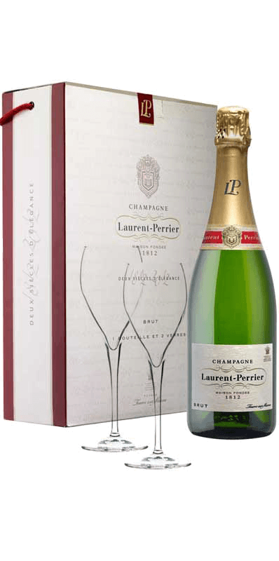 Champagne Laurent-Perrier Brut La Cuvée (in gift box with 2 glasses) NV