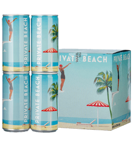 Private Beach Sparkling Rosé (4 cans x 200ml each)