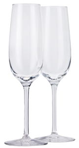 Dartington Crystal Champagne flutes