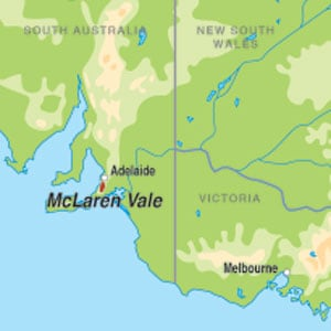 Map showing McLaren Vale