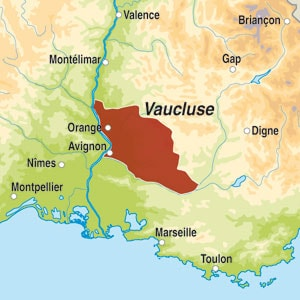 Map showing Vaucluse IGP