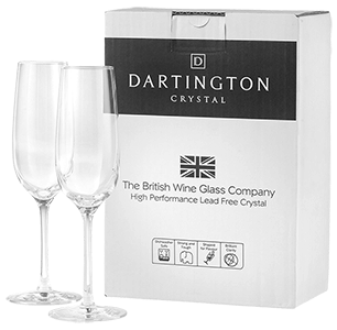 Dartington crystal flutes Pair