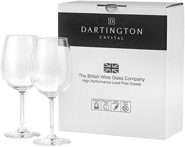 Dartington Crystal Pair of Red Wine Glasses