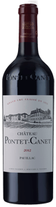 Chateau Pontet Canet Pauillac 5eme Cru Classe in wooden cases of 6 bottles 2012