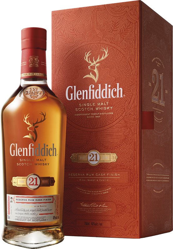 Glenfiddich 21-year-old Single Malt Scotch Whisky (gift box) (70cl) NV