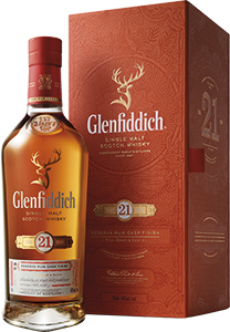 Glenfiddich 21-year-old Single Malt Scotch Whisky (gift box) (70cl)