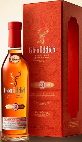 Glenfiddich 21-year-old Single Malt Scotch Whisky (in a gift box) ...