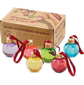 Pickerings Christmas Gin Baubles (6x5cl)